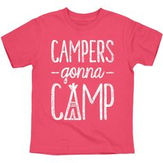 Campers Gonna Camp Youth Tee Product Details - 4.3 oz, 100% combed cotton jersey. Athletic Heather is 93/7 cotton/polyester blend. - 1x1 baby rib collar - Printed in USA Sizing and Measurements X-Smal