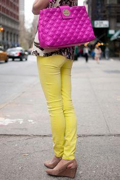 Neon bag.