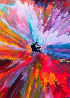 loneliness abstract astronaut abstraction colors colorful explosion explosive graphic art digital artistic glitch fractal nebula space univers psychedelic dorianlegret