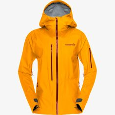 Norrona W Lofoten Gore-Tex Active Jacket Snowboard, Gore Tex Jacket, Lofoten, Recycled Fabric, Men Online, Orange, New Product, Nike Jacket, Hooded Jacket