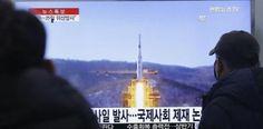Corea del Norte lanza dos misiles de medio alcance Musudan....