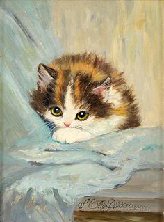 Pin by marti stuart on art - kool cats in 2019 кошачьи картины, полосатые к Watercolor Animals, Watercolor Paintings, Image Chat, Illustration Art, Illustrations, Vintage Cat, Cat Drawing, Animal Paintings, Crazy Cats