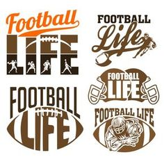 Football has been around a long time. From throwing the pigskin to today's technologically advanced balls, things have changed greatly over time. Silhouette Cameo Projects, Silhouette Design, Football Mom Shirts, Football Locker Signs, Football Crafts, Soccer Shirts, Sports Shirts, Boat Names, Cutting Tables