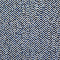 Fabric | Clarence House - Titus, multi-blue chevron weave