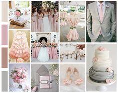 Du rose pastel et du gris clair, parfait mélange pour un mariage romantique. Rose Pastel, Wedding Event Planner, Parfait, Table Decorations, Inspiration, Design, Gray, Beautiful Moments, Weddings