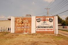 Abe's BBQ murals in Clarksdale, MS by Southern Foodways Alliance, via Flickr