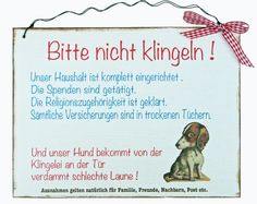 Aufkleber & Schilder - Türschild Humor - ein Designerstück von Un-Art-Tick bei DaWanda