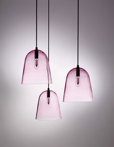 Our mouth blown glass pendant lamps in a blush colour of watermelon from our Softscape collection. Pink Pendants, Glass Pendants, Modern Lighting, Lighting Design, Free Standing Lamps, Rose Quartz Serenity, I Love Lamp, Interiores Design, Ceiling Lights