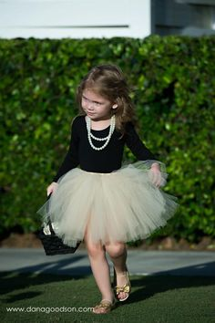 You have to find a flower girl so she can wear a tutu and pearls!. A little more colorful, perhaps.