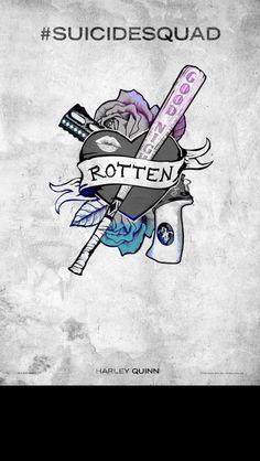 Suicide Squad Harley Quinn symbol poster