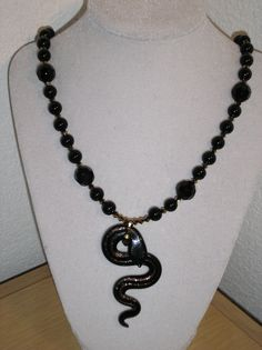 The Snake Charmer/Genuine swarovski by CreationsbyMaryEllen, $17.89