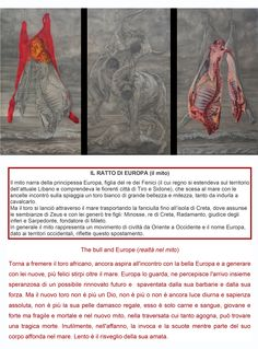 """""""the bull and Europe"""" triptych cm 360x220"""