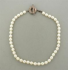 Tiffany &Co Sterling Pearl Toggle Necklace Featured in our upcoming auction on November 3!
