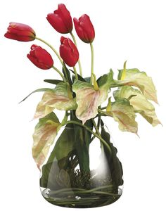 Tulip and Anthurium Arrangement