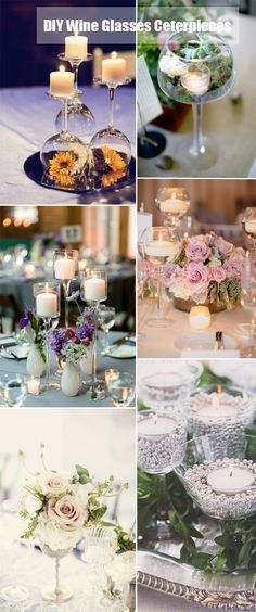 40 DIY Wedding Centerpieces Ideas for Your Reception | http://www.tulleandchantilly.com/blog/40-diy-wedding-centerpieces-ideas-for-your-reception/