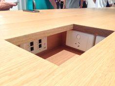 Details, details. Apple Store Brisbane task bench