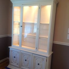 China cabinet redo--- I have a china cabinet waiting for me when we have a bigger house!