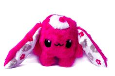 Fluse :  Hase Stofftier Plüsch Bunny Neon-Pink