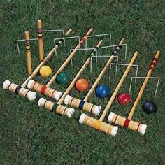 croquet my favoritess game I use to play with my brother and also rest of the family!
