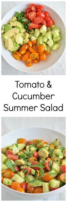 Easy Tomato Summer Salad.   Simple ingredients and very refreshing. Perfect for cookouts.  Vegan, gluten free and paleo.