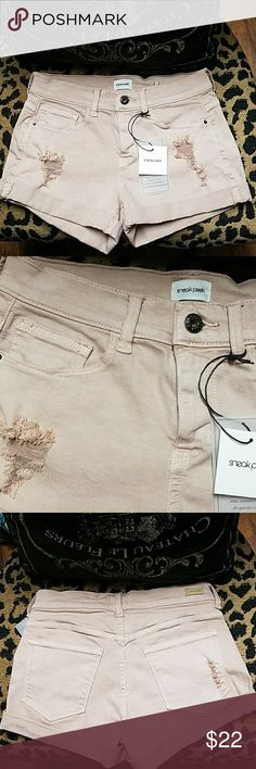 Sneak Peek Shorts New with tags. Color on tag is Hazelnut but looks like a blush color also. Sneak Peek Shorts