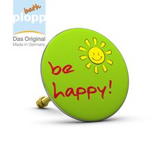 """bath plopp """"be happy"""", green.   Unsere Stöpsel für die Badewanne bieten Ihnen maximales Badevergnügen.  #Bad #plopp #bath #bathroom #Badezimmer #Geschenkidee #Badewanne #happy"""