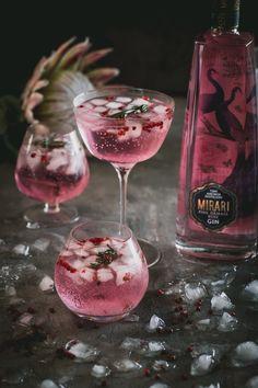60ml Mirari Pink Rose Gin 30ml Fresh Lemon Juice 20ml Rose syrup Soda Water