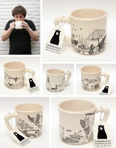 Liekeland, preciosas tazas ilustradas | topitipot