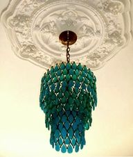 2013 Pantone Color | Emerald - Emerald green chandelier, color inspiration