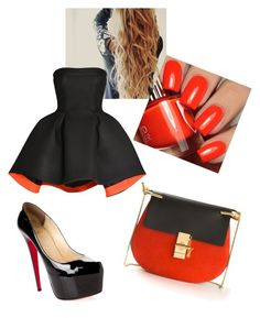 """Red & Black"" by miazinhaa on Polyvore featuring beauty, Parlor, Christian Louboutin and Chloé"