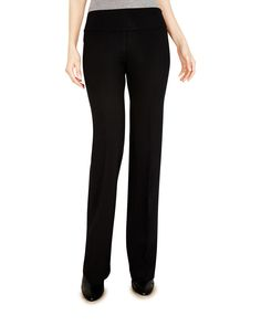 May Flared Ponte Pant – Ecru Style