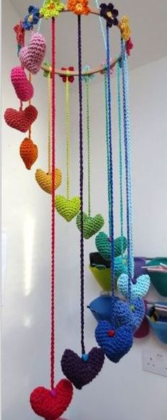 Awesome crochet mobile!