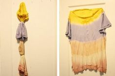DIY Clothes Refashion : DIY : tie dye with what you€™ve got in the kitchen