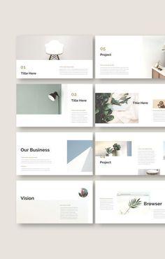 Planner PowerPoint Template Portfolio Design Layouts, Layout Design, Template Portfolio, Indesign Portfolio, Web Portfolio, Portfolio Presentation, Presentation Design, Presentation Folder, Slide Design