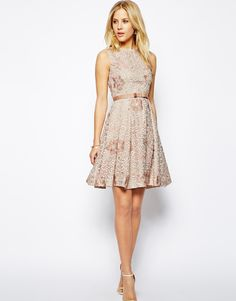 Needle & Thread Floral Organza Dress