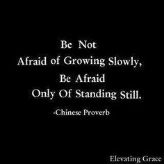 Chinese Proverb  standing still