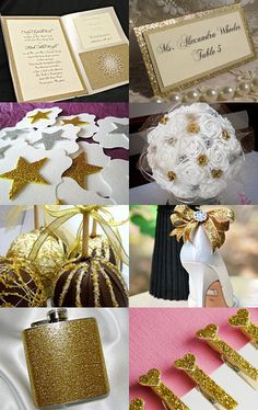 Gold Glitter  Weddings on Etsy     --Pinned with TreasuryPin.com