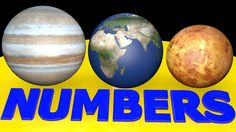 Learn Numbers and Counting to 10 with PLANETS in SPACE 3D - Toddler lear...