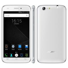 Doogee DG320 smartphone use 5 inch HD screen, has 1GB RAM + 8GB ROM with MTK6580 Quad Core processor, 5MP rear + 2MP front dual camera, installed Android 5.1 OS.