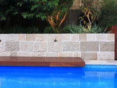 Eco Outdoor Berrimah sandstone traditional format walling.