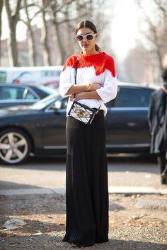 fc1da03fe1d5 The Best Milan Fashion Week Street Style  Fall 2015 - HarpersBAZAAR.com  Street Style