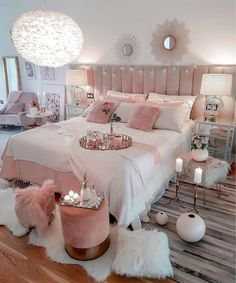47 very beautiful and comfortable bedroom decor ideas 40 Dream Bedrooms Beautifu. - 47 very beautiful and comfortable bedroom decor ideas 40 Dream Bedrooms Beautiful Bedroom Comfortab - Teen Bedroom Designs, Bedroom Decor For Teen Girls, Cute Bedroom Ideas, Teen Room Decor, Room Ideas Bedroom, Bedroom Setup, Cosy Bedroom, Bedroom Inspiration, Bedroom Decorating Ideas