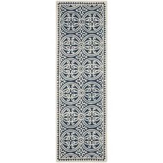 Shop for Safavieh Handmade Cambridge Moroccan Navy Blue/ Ivory Rug (2'6 x 20'). Ships To Canada at Overstock.ca - Your Online Home Decor Outlet Store!  - 15416725