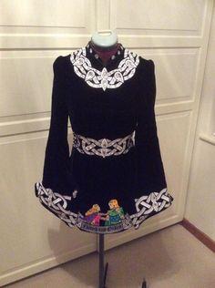 Charming Black Gavin Doherty Irish Dance Dress Solo Costume For Sale