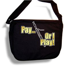 Bassoon Pay or I Play - Sheet Music & Accessory Bag Carry Case - MusicaliTee: Amazon.co.uk: Clothing