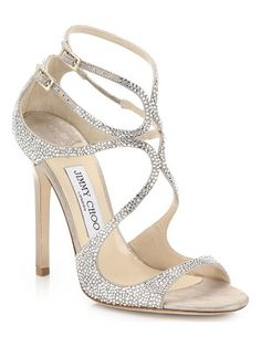 Lang Memento Ankle-Wrap Suede Sandals by Jimmy Choo - Most Expensive Shoe Brands Strappy Shoes, Suede Sandals, Suede Shoes, Shoe Boots, Shoes Sandals, Toe Shoes, Stilettos, High Heels, Bridal Shoes