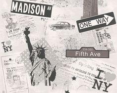 Artikelbild; A.S. Création Tapete 936251  #travel #ascreation #wallpaper #tapete #traveltheworld #onewayticket #reisen #urlaub #justaway #newyork #city