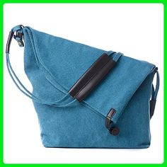 Feelme New fashion Cross Body Handbags Canvas shoulder bag Leisure package (Large, Blue) - Shoulder bags (*Amazon Partner-Link)