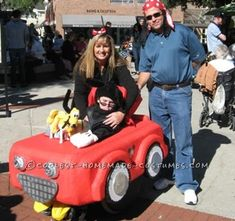 Coolest Mickey Mouse and Car Wheelchair Costume... Coolest Homemade Costumes