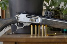 My Marlin with an Aimpoint Micro on top. Weapons Guns, Guns And Ammo, Marlin 1895 Sbl, Revolver Pistol, Lever Action Rifles, Real Steel, Gun Storage, Hunting Rifles, Firearms